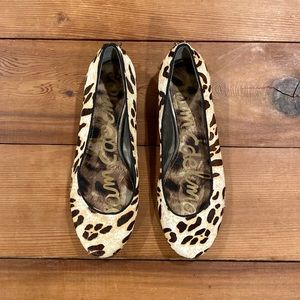 Sam Edelman Leopard Joya Calf Hair Studded Flats